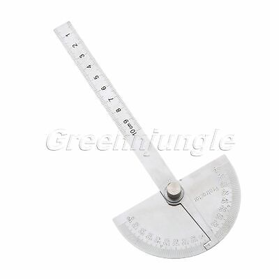 180°Angle Ruler Stainless Steel Protractor Round Angle Finder Craftsman Ruler