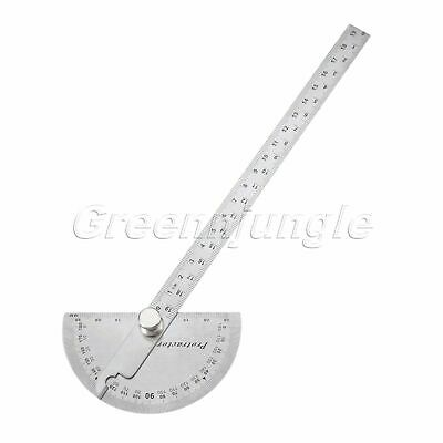 Stainless Steel Protractor Angle Ruler Finder Carpenter Woodworking Tool Silver