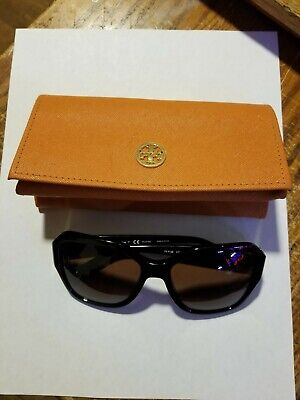 TORY BURCH Sunglasses TY 7125 1709/T5 Black Frame w/ Brown Gradient