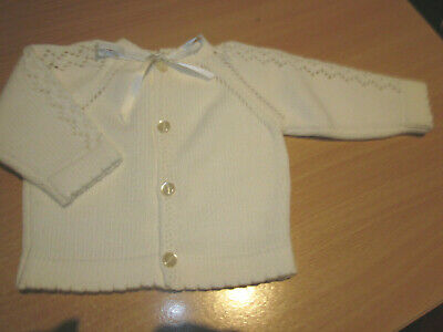 Hand Knitted Baby Jacket Size 0000/Newborn  New Without Tags