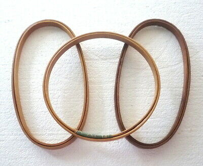 """Lot of 3 Vtg DUCHESS Wood Embroidery Hoops 2 Oval 9"""" x 4.5"""" and 1 Round 7"""""""