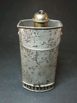 Antique Nickel plated Metal Candle Lantern Camping Lamp Brass Candle Tube ~ rare
