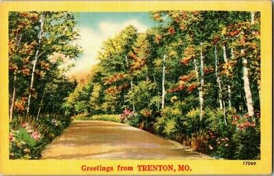 1940'S. Greetings From Trenton, Mo. Postcard Sl4