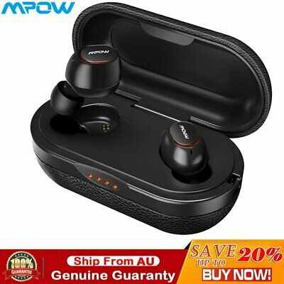 Mpow T5 Earphone Bluetooth 5.0 Headset Wireless Earbuds TWS 3D Stereo Headphones