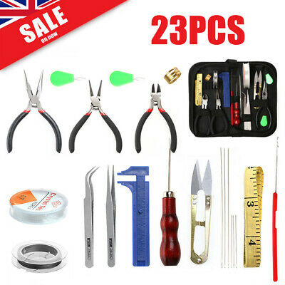 22pcs/Set Jewelry Making Supplies Kits Bead Design Board Wires Findings Tools UK