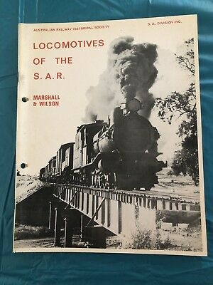 Locomotives Of The SAR Signed Book 1972 South Australian Railways