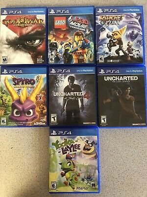 Collection Of PS4 Games: Spyro, Uncharted, God Of War, Ratchet, LEGO, Yooka
