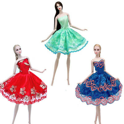 "3pcs/lot Random Ballet Dress For 11.5"" Doll Clothes Evening Dresses Outfits 1/6"