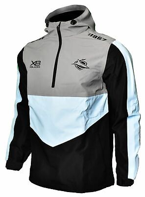 Cronulla Sharks 2019 Wet Weather Jacket Mens Sizes Small - 4XL NRL XBlades SALE