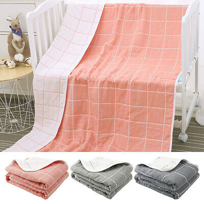 Throw Blanket Bed Super Soft Summer Six Layers Gauze 100% Pure Cotton 3 Colors