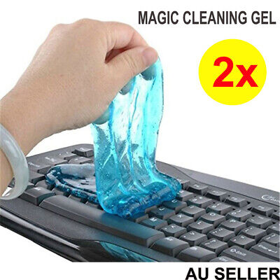 2x Magic Cleaning Gel Cleaner Putty Dust Slimy Muddy Compound Computer  Keyboard
