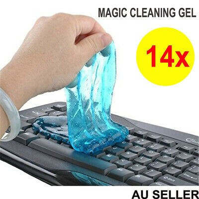 14x Magic Cleaning Gel Cleaner Putty Dust Slimy Muddy Remover Compound 4Computer