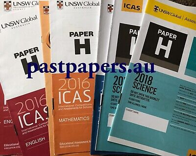 ICAS (Paper H) Year 10 Papers set - with 2018 papers ~ FAST DELIVERY