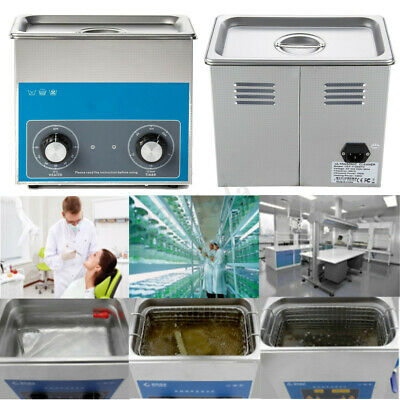 220V 3L Digital Stainless Steel Liter Industry Ultrasonic Cleaner Heater + Timer
