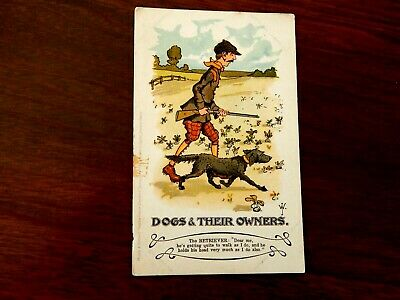 "1906. RARE POSTCARD. Mirch & Stocks. ""DOGS & THEIR OWNERS""..... . ""L@@@K""."