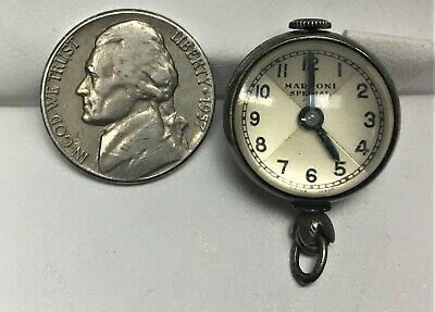 ANTIQUE Marconi Special BY Rolex Art Deco Crystal Ball Pendant Swiss Watch