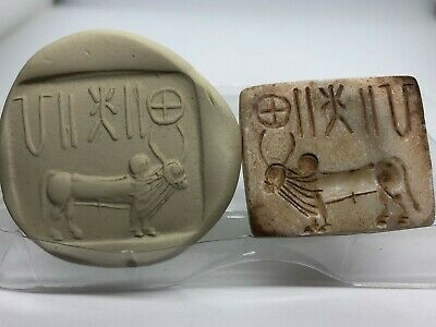 (40 mm)Unique BULL  Seal Intaglio & Indus valley inscription stone stamp