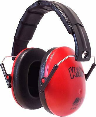 Ear Defenders Kids Boys Girls Hearing Protection Headset Headphone Folding Red