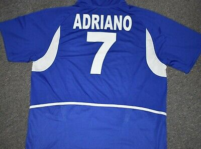 Brazil 2003 Mens XL AWAY Jersey #10 ADRIANO - Used in Good Condition