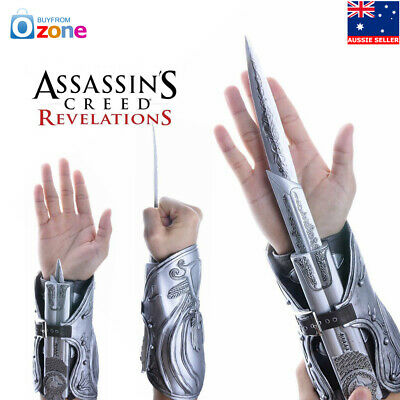 Assassin's Creed Ezio Hidden Blade Auditore Gauntlet Replica Cosplay Brotherhood