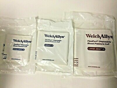 Welch Allyn 901044 FlexiPort Adult 10,11,& 12 Disposable Blood Pressure Cuff Set