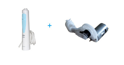 Braun Handle Handle White and Blue + Pump for Water Jet Oral B 3718-3727