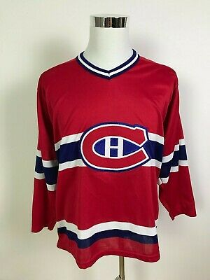 Vintage CCM Montreal Canadiens Mens NHL Ice Hockey Habs Jersey Size M