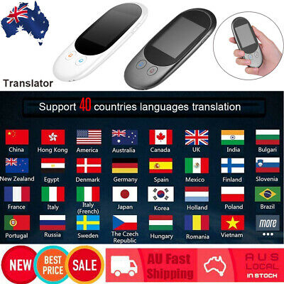 2.4Inch IPS Wifi Smart Voice Translator Translation 40 Languages Rechargeable