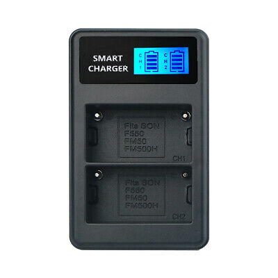 LCD Display Dual Channel Fast ChargingDigital Camera Battery Chargers for Sony