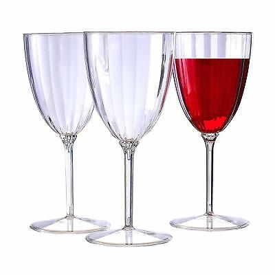 CLASSIC STEMWARE DISPOSABLE PLASTIC WINE GLASSES  ( Includes 12 goblets )