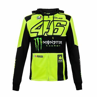 2018 VR46 Valentino Rossi #46 MotoGP Mens Full Zip Hoody Hoodie Monster Energy