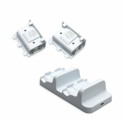 Dual Charging Dock Charger+2 Rechargeable Battery For Xbox One S Controller KU