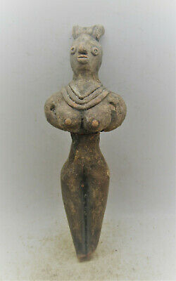 Circa 2200-1800Bce Ancient Indus Valley Harappan Terracotta Statuette
