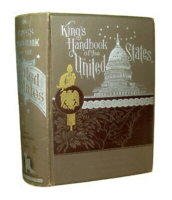 UNITED STATES American ATLAS 1892 Gazetteer Maps History TRAVEL GUIDE Antique