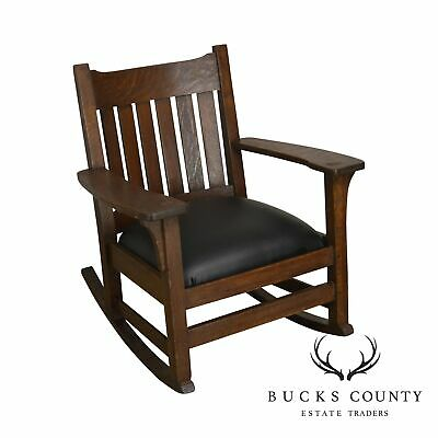 Antique Mission Oak Rocker, Possibly Stickley