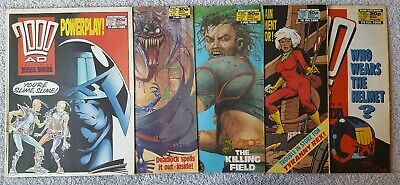 5 X 2000AD MAGAZINES NO's 580/581/582/583/584  JUNE/JULY 1988