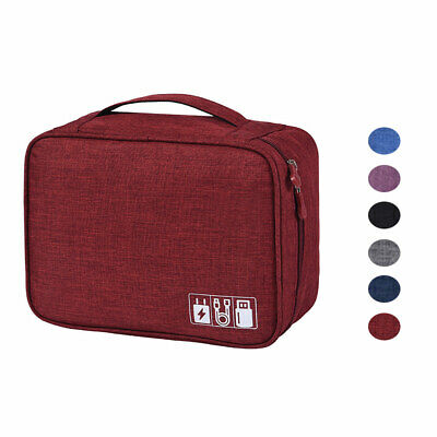 Travel Storage Organizer Case Hard Drive Disk Case Cable Storage Carrying Bag