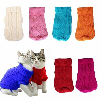 Cute Pet Dog Warm Jumper Sweater Clothes Puppy Knitwear Knitted Coat Winter KU