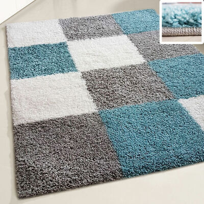 Small X Large Size Duckegg Thick Soft Shaggy Teal Non Shed Rug Modern Carpet New