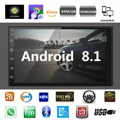 7inch Android 8.1 Car Stereo GPS Navigation Radio MP5 Player Double 2Din WIFI
