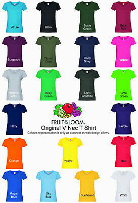 Mens Plain Fruit of the Loom Original T shirt - Choice of 25 colours