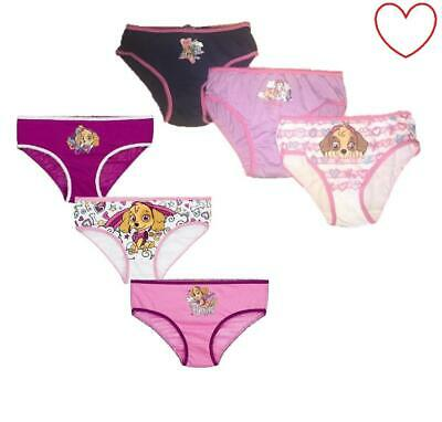Girls Pants Character 3 Pair Cotton Paw Patrol Briefs Underwear