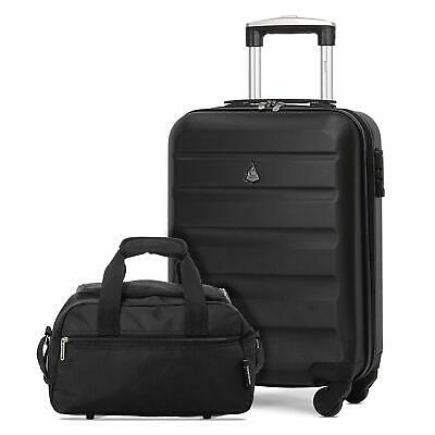 Aerolite Ryanair Max Size Carry On Hand Luggage Suitcase + Cabin Holdall Bag