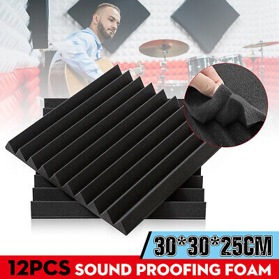 12/24/36Pcs Acoustic Wall Panels Sound Proofing Studio TreatmentsTool Foam