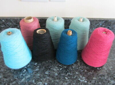 Job Lot Of Mixed Part Cone 4 Ply Yarn In Various Colours.