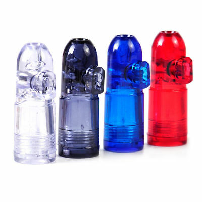 1 X Bullet Snuff Dispenser Snorter Rocket Shape Acrylic Glass Bottle Nasal 53mm