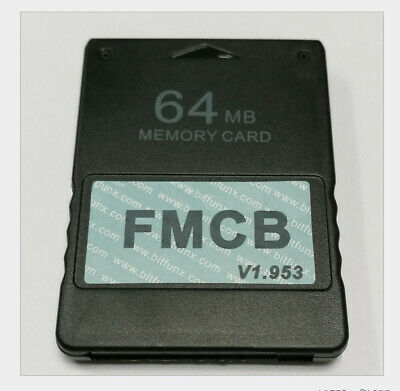 For Free McBoot FMCB 1.953 Sony Playstation 2 PS2 Memory Card Cards 64MB Mod