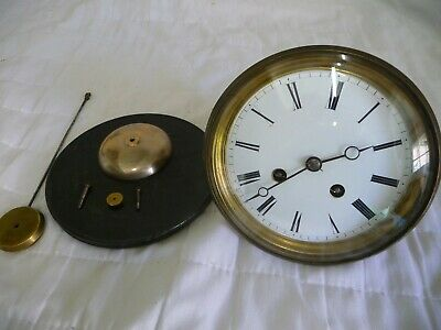 Antique French Large Striking Clean Clock Movement Complete Working Project