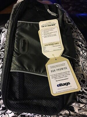 eBags Packing Cubes - 3pc Pack, Black Travel Organizer NWT