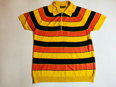Retro 60s 70s Mens Leisure Wear Vintage Hipster Rockabilly Short Sleeve Shirt